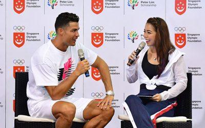Cristiano Ronaldo in Singapore